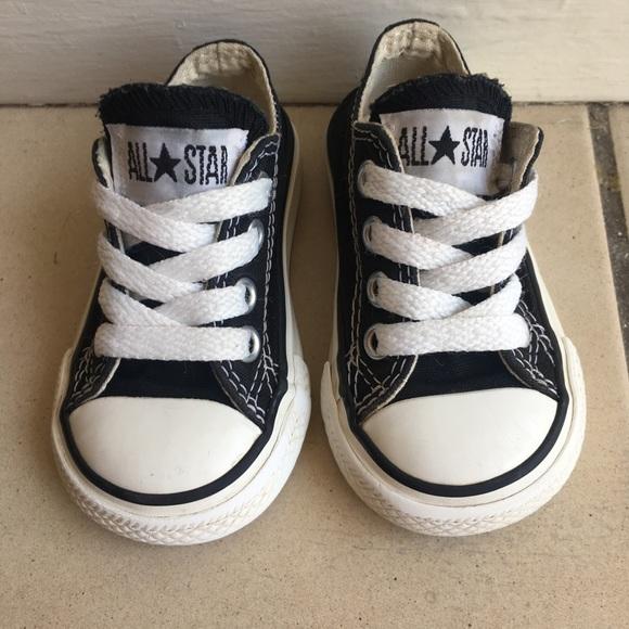 Converse Other - Baby Boy Girl Unisex Black Converse Chucks Size 3 9c97d3bd6
